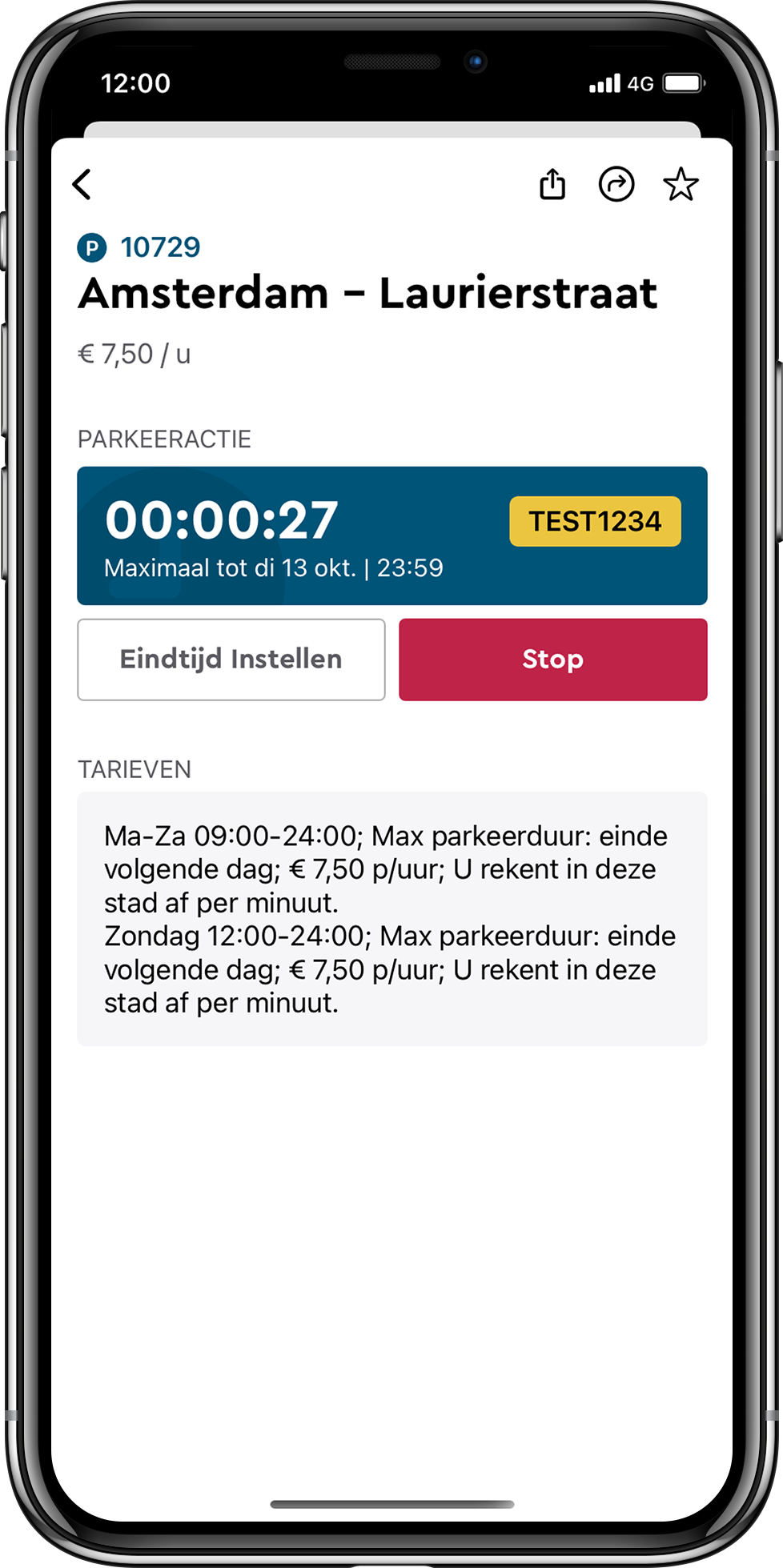 Download de nr. 1 parkeerapp iPhone screenshot
